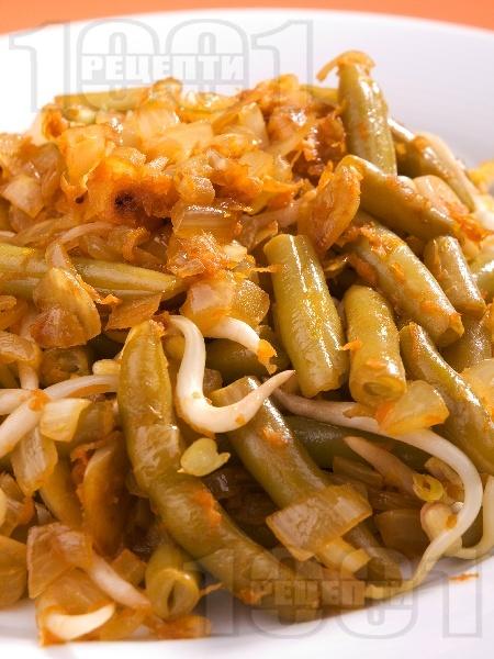 Бункис кетжаб - зелен фасул със соев сос, сусамово и фъстъчено масло - снимка на рецептата